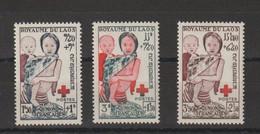 Laos 1953 Croix Rouge 25-27 3 Val ** MNH - Laos