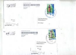 Lettre Poste Privee Nordbrief Vignette Phare Cachet - Affrancature Meccaniche Rosse (EMA)