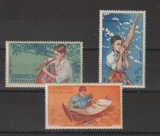 Laos 1957 Musiciens 37-39 3 Val ** MNH - Laos