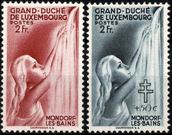 Luxembourg Luxemburg 1939/40 Mondorf Les Bains 2x 2Fr. Neuf MNH** - Unused Stamps