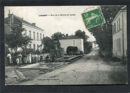 CPA - LUSSANT - Rue De La Mairie Et Le Lavoir, Très Animé - Autres Communes