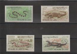 Laos 1967 Reptiles 167-170 4 Val ** MNH - Laos