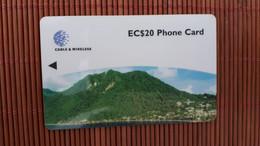 Dominica EC 20 $ Number  280CDMB Phonecard  Used Rare - Dominica