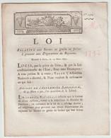 1792, Loi Relative Aux Secours En Grains Et Farine à Procurer Aux Départements Du Royaume - Décrets & Lois
