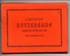 Leporello Gutshof Rettershof, Post Königstein I. Ts., 10 Bilder, Je Ca. 7 X 9 Cm, Um 1950-59 - Koenigstein