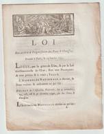 1791, Loi Relative à L'organisation Des Ponts Et Chaussées - Décrets & Lois