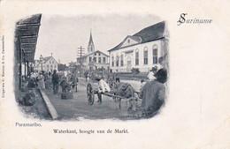 48547Paramaribo, Waterkant Hoogte Van De Markt Rond 1900. (Rechtsonder Een Kleine Vouw) - Surinam