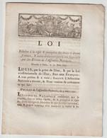 1791, Loi Relative à La Régie Et Perception Des Droits Ci-devant Féodaux... - Décrets & Lois