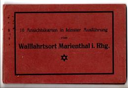 Leporello Wallfahrtsort Marienthal I.Rhg., Rockenhausen, 9 Bilder, Je Ca. 9 X 14 Cm, Um 1920-25, - Rockenhausen