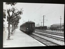 Photographie Originale De J.BAZIN: Le MONOPHASÉ En Haute Savoie ( 1950/1960) ANNECY  En 1956 - Trenes