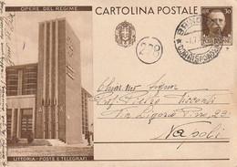 A82.Brindisi. 1933. Annullo Guller BRINDISI *CORRISPONDENZE*, Su Cartolina Postale OPERE DEL REGIME - Storia Postale