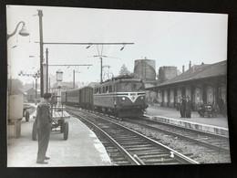 Photographie Originale De J.BAZIN: Le MONOPHASÉ En Haute Savoie ( 1950/1960) ANNECY  En 1959 - Trenes