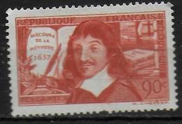 FRANCE  N° 342 *  ( Cote 7e ) René Descartes  Discours De La Methode - Vliegtuigen