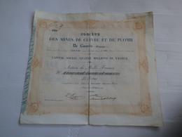 SOCIETE DES MINES DE CUIVRE ET DE PLOMB - LINARES ESPAGNE - ACTION DE MILLE FRANCS - 1846 - N° 531 - PARTIE RESTAURÉE - Mineral