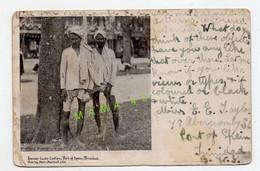 CPA DE 1906 - ETHNIE- INDIEN - LOWER CASTE COOLIES - PORT OF SPAIN - TRINIDAD - Trinidad