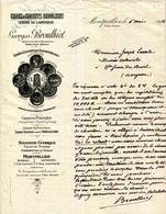 34.MONTPELLIER.CHAUX & CIMENTS BROULHIET.USINE DE LAROQUE PRES DE GANGES.GEORGES BROULHIET. - Sin Clasificación
