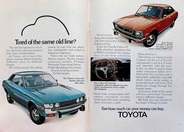 Publicité Papier VOITURE TOYOTA COROLLA CELICA June 1973 PBP1050402 - 2 Pages - Werbung