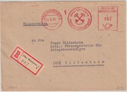 BRD - Hannover 1951 60 Pfg. AFS Nieders. Wach- Und Schließges. Einschreibebrief - Machine Stamps (ATM)