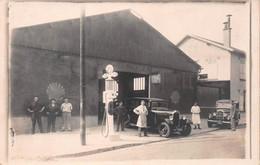 Carte-Photo D'un Garage Automobiles à MARSEILLE (voir Texte) - Pompe à Essence Shell - Publicités Tudor, Michelin - Sin Clasificación
