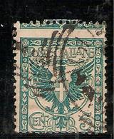 """(Fb).Regno.V.E.III.1901.""""Floreale"""".5c Verde Usato Con Dentellatura Orizzontale Spostata In Alto (111-16) - Gebraucht"""