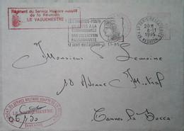 G 12 Lettre Ou Carte Ou Document   Lettre Service Militaire Adapté De La Réunion - Cachets Militaires A Partir De 1900 (hors Guerres)