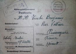 G 12 Lettre Ou Carte Ou Document Carte Prisonnier De Guerre Cachet Illustré  Stalag VI J - Guerre De 1939-45