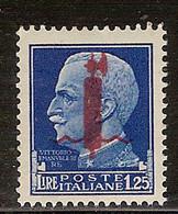 (Fb).R.S.I.1944.-1,25 Lire Nuovo,gomma Integra,MNH (40-21) - Ungebraucht