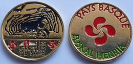 MONEDA Medalla Souvenir FRANCIA 34mm Color: PAYS BASQUE - Les Grottes De Sare (Euskal Herria) - Sonstige