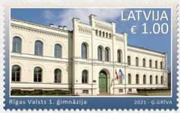 Latvia Lettland Lettonie 2021 (14) Riga State 1st Gymnasium - Letonia