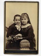Photographie Ancienne Angoulême Portrait Couple D' Enfant Romantique - Fernand BRAUN  Rue Marengo ( 16 Cm/10 ) - Oud (voor 1900)