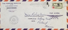 O) 1956 CUBA, CARIBBEAN, EMBASSY OF THE UNITED STATES OF AMERICA, DIPLOMATIC CORRESPONDENCE, US AIR MAIL, INTERNATIONAL - Covers & Documents