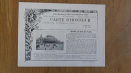 ECOLE MOYENNE DE L'ETAT POUR GARCONS JUMET Ostende Reine Des Plages Oostende Carte D'Honneur 1907 Elève Ecolier Hainaut - Diploma & School Reports