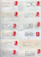 Lot De 50 Lettres Pour Flammes Sur Enveloppes Entières - Annullamenti Meccanici (pubblicitari)
