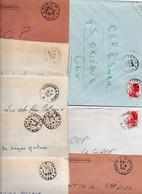 Lot De 8 Lettres - Ambulants - - Posta Ferroviaria