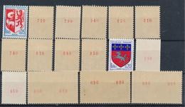 EC-912: FRANCE: Lot Avec Stock Roulettes N° Rouge** N°1468b(10)-1510b(3)-1435b(3) - Rollen
