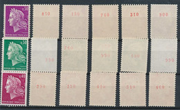 EC-913: FRANCE: Lot Avec Stock Roulettes N° Rouge** N°1536b(6)-1536Ab(6)-1536Bc(6) - Rollen