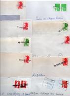 Lot De 10 Lettres - Annulation Du Timbre Avec Griffe Horizontale - Majorité ORLEANS - - Altri