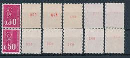 EC-914: FRANCE: Lot Avec Stock Roulettes N° Rouge** N°1664b(6)-1664e(6) - Francobolli In Bobina