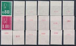 EC-915: FRANCE: Lot Avec Stock Roulettes N° Rouge** N°1894a(6)-1895a(12) - Rollen