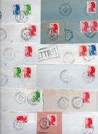 Lot De 24 Lettres - Cachets Manuels - FRANCE - - Bolli Manuali