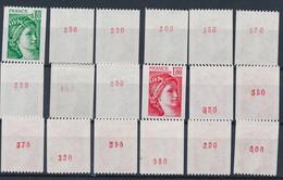 EC-916: FRANCE: Lot Avec Stock Roulettes N° Rouge** N°1980a(9)-1981a(9) - Rollen