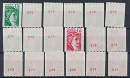EC-918: FRANCE: Lot Avec Stock Roulettes N° Rouge** N°2062a(9)-2063a(9) - Rollen