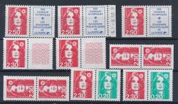 """EC-920: FRANCE: Lot Avec """"BRIAT""""  2.30f Et 2.50f  Rouge** Dont N°2614 Et 2715a - Ungebraucht"""