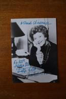 Autographe De Edwige FEULLIERE (1907 1998)  Actrice  De Cinema Et De Théâtre   Sur Photographie - Autographes
