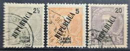 SAO TOME ET PRINCIPE 1913 - Canceled - Sc# 116, 117, 118 - St. Thomas & Prince