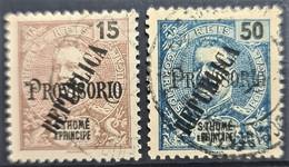 SAO TOME ET PRINCIPE 1913 - Canceled - Sc# 138, 139 - St. Thomas & Prince