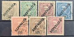 SAO TOME ET PRINCIPE 1913 - Canceled - Sc# 141, 143, 146, 147, 148, 149, 150 - St. Thomas & Prince