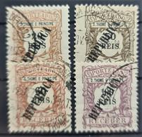 SAO TOME ET PRINCIPE 1913 - Canceled - Sc# J23, J25, J26, J27 - St. Thomas & Prince