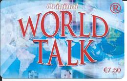 TELECARTE - WORLD TALK 7,50€ - - Telefoni