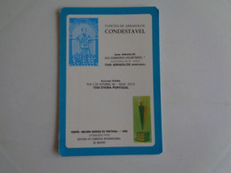 Tapetes De Arraiolos Condestável Arraiolos Portugal Portuguese Pocket Calendar 1987 - Klein Formaat: 1981-90